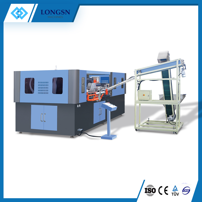 Automatic PET bottle stretch blow molding machine