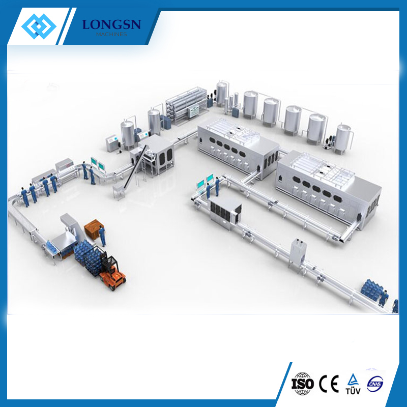 Automatic 5 gallon water production line/filling machine