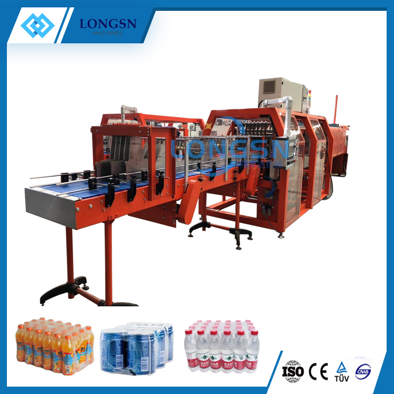 Small Automatic PE film Beverage Bottle Shrink Wrapping Packing Machine