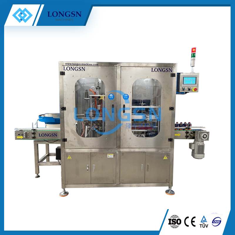 Automatic bottle screw capping sealing closing machine